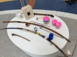 Selection of the musical instruments made by Garth.