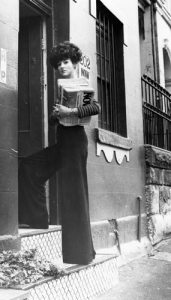 Nielsen outside her home at 202 Victoria St. ABC Document Archives.