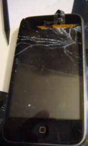 cracked iphone 3g