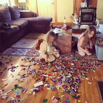 Did you know: The sound of a giant bucket of Legos spilling all over a hardwood floor sounds something like an explosion?