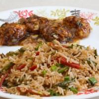 Chinese Veg Machurian with Gravy and Chinese Fried Rice