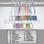 SIZZLE CITY Wholesale Bulk Discounted Vertical ID Badge Holder Colored Rhinestone Lanyards