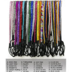 Thin Standard Color Elastic Stretch Bling Rhinestone Headbands
