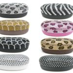 SIZZLE CITY Custom Bling Rhinestone Animal Print Eyeglasses / Sunglasses Hard Shell Protective Clam Shell Case