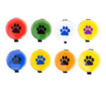 SIZZLE CITY Custom Colored Puppy Paw Badge Reel Retractable ID Badge Holder Collection