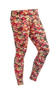 Women's Custom Color Floral Pattern Print Leggings Stretch Tights: Floral Leggings E