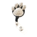 SIZZLE CITY Custom Bling Rhinestone Paw Badge Reel Retractable ID Badge Holder