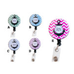 Custom Colored RN Chevron Anchor Badge Reel Retractable ID Badge Holder: Group Shot 1