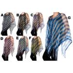 Women's Custom Colored Light-Weight Bling Rhinestone Ponchos: Group Shot