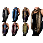 Women's Custom Colored Light-Weight Bling Patterned Shimmering Scarves: Group Shot