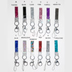 Custom Color Bling Shimmering Rhinestone Key Chains: Group Shot