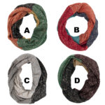 Women's Multi-Color Fashion Knit Infinity Loop Scarves: Group Shot