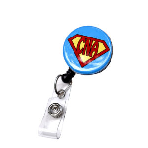 Blue Super CNA Retractable ID Badge Holder: Featured Image