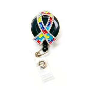 3D Autism Awareness Ribbon Retractable ID Badge Holder: Featured Image