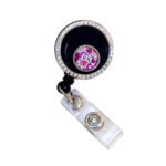 RN Flower Mini Charm Locket Retractable ID Badge Holder: Featured Image