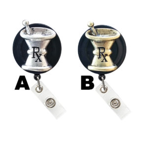 3D RX Mortar & Pestle Badge Reel Retractable ID Badge Holder: Featured Image