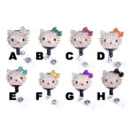 3D Rhinestone Hello Kitty Head Retractable ID Badge Holder: Featured Image