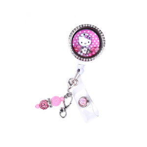 Pink Hello Kitty Nurse Charm Locket ID Badge Holder: Featured Image