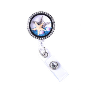 Sea Life Starfish Charm Locket Retractable Badge Reel: Featured Image
