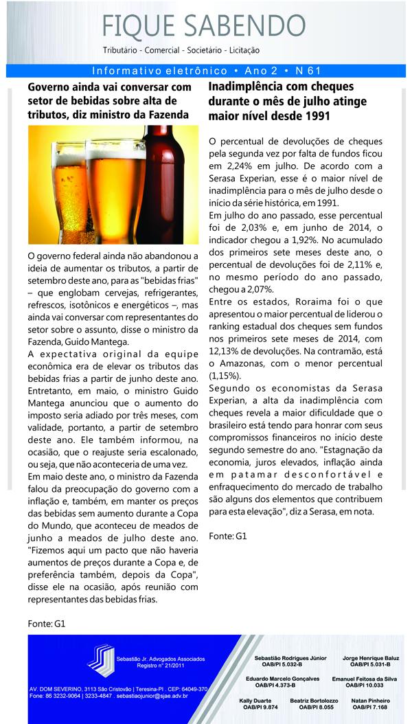 News n° 61- ano 2 - 19.08