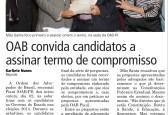 OAB convida candidatos a assinar termo de compromisso