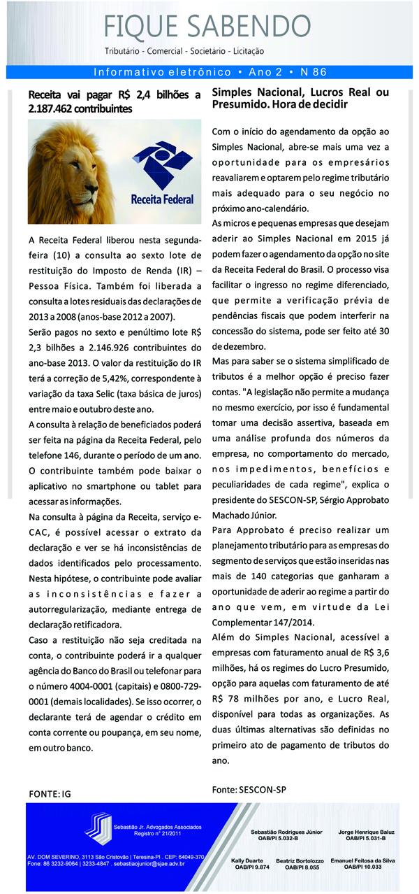 News n° 86- ano 2 - 11 fhssh