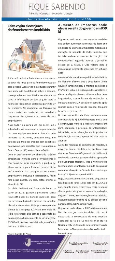 News n° 100 - 15.01