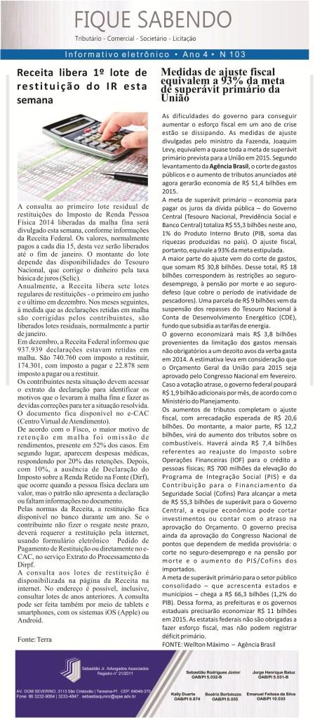 News n° 103- ano 4 -27.01