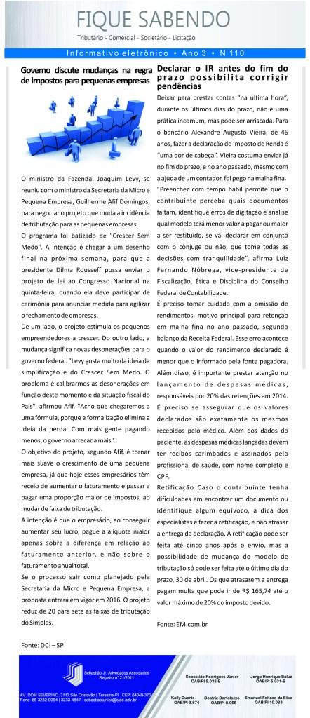 News n° 110- ano 3 -24