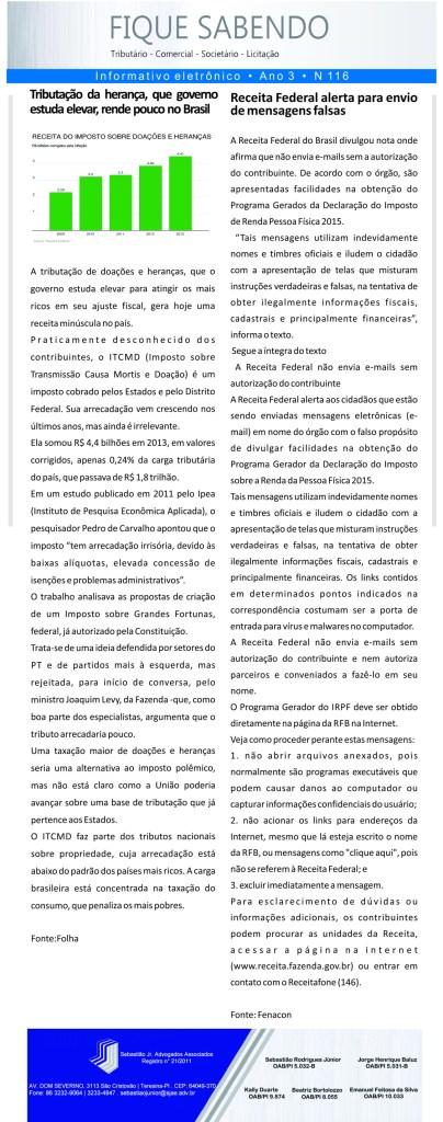 News n° 116- ano 3 -17