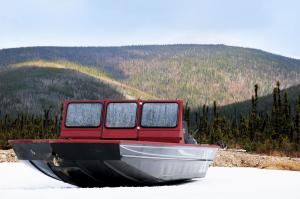 boat on ice w  montain