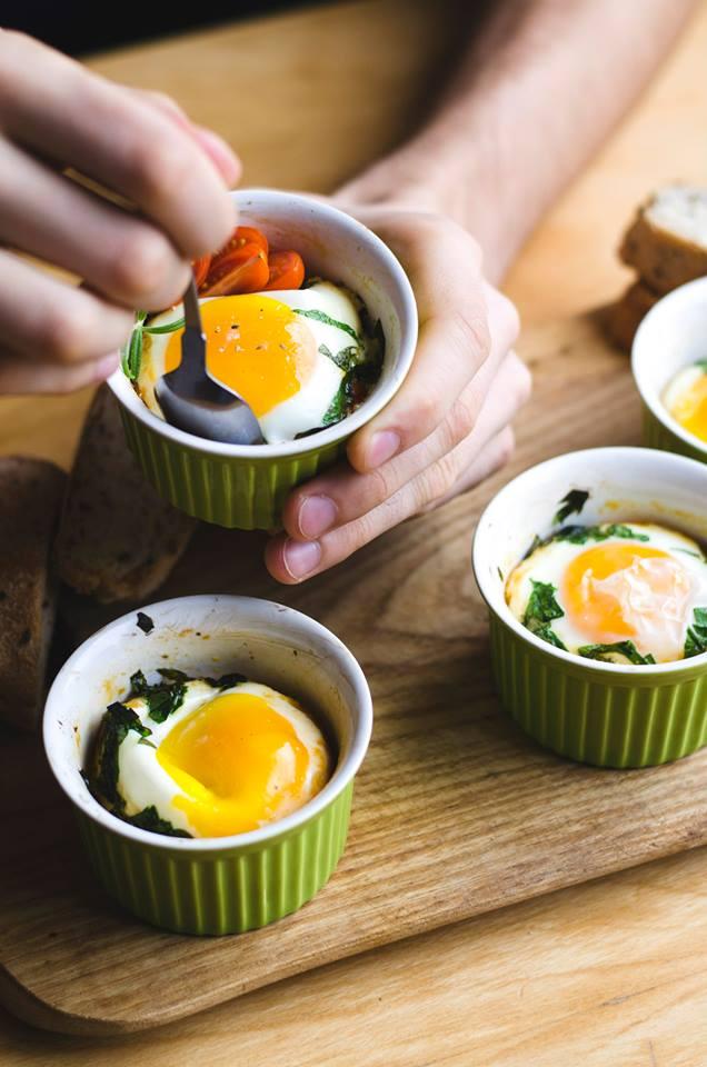 Orkaitėje kepti kiaušiniai
