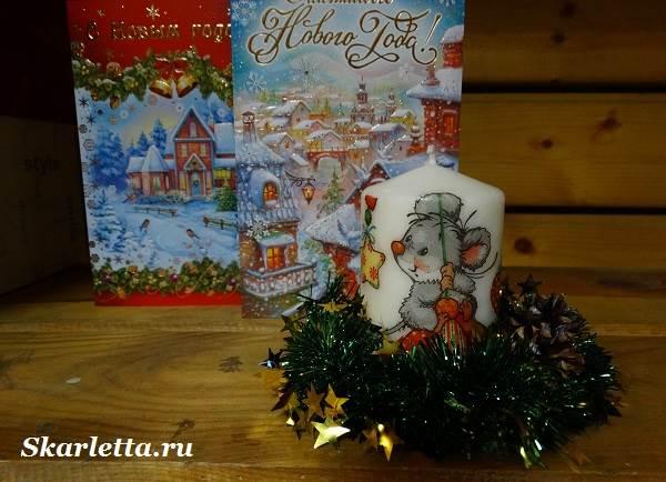 Декупаж-свечи-новогодний-дизайн-7