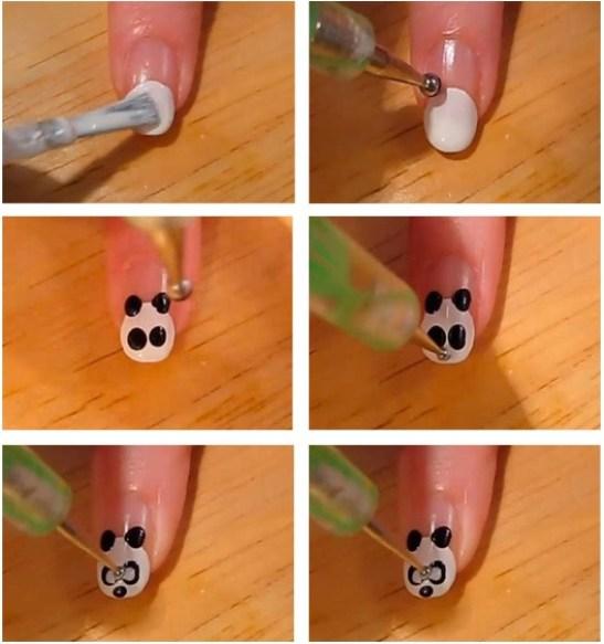 Поэтапные рисунки на ногтях