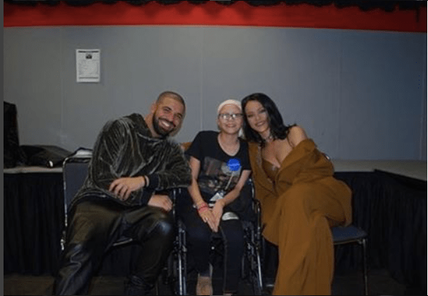 Drake and Rihanna visit Miami patient in hospital for make a wish     Drake and Rihanna visit Miami patient in hospital for make a wish foundation    Skedline com