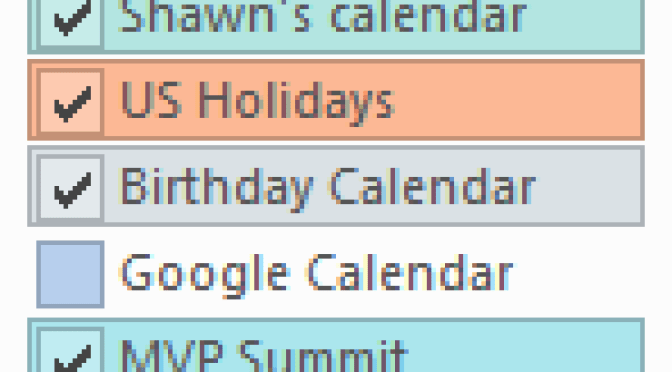 Hotmail Calendars