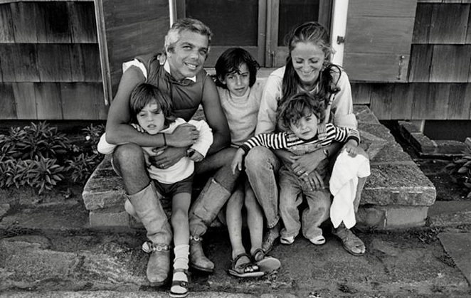 Ralph-Lauren-his-family-East-Hampton-1975