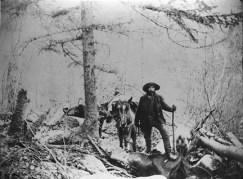 Historic scene Klondike Gold Rush circa 1899