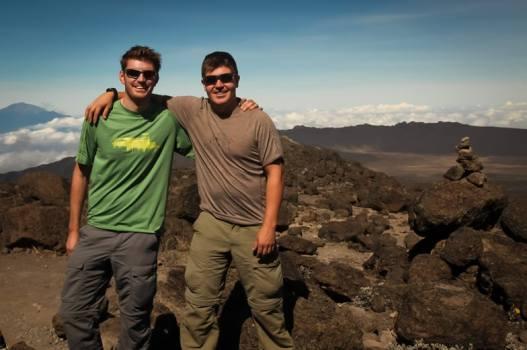 Brothers summit Mt. Kilimanjaro