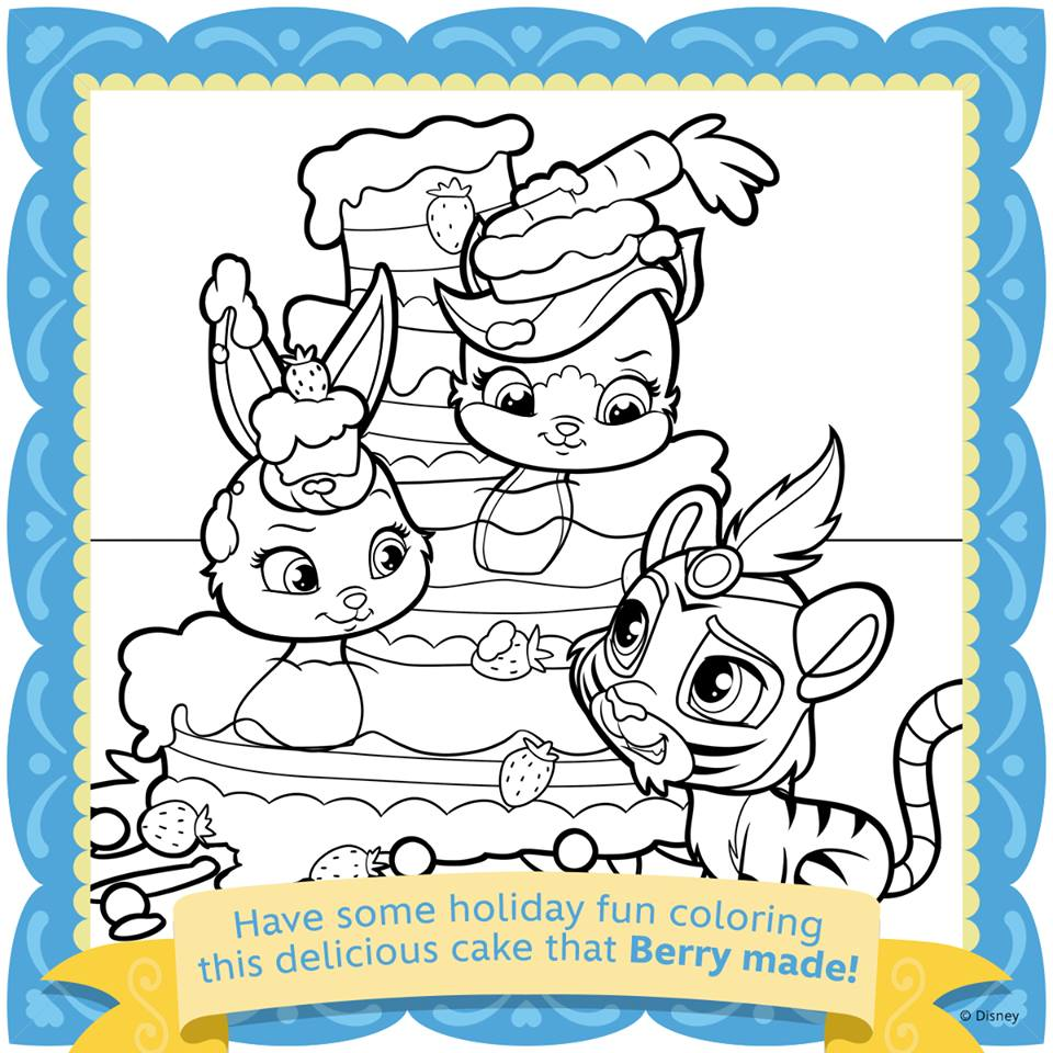disney princess palace pets coloring pages - whisker haven printable coloring pages and activities