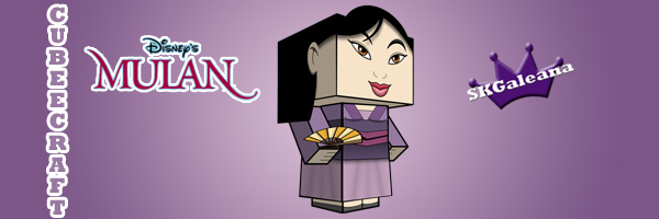 disneys mulan in her purple dress cubeecraft free