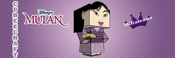 disneys mulan in her purple dress cubeecraft free