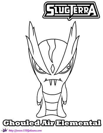 slugterra coloring pages tazerling ghoul - photo#21