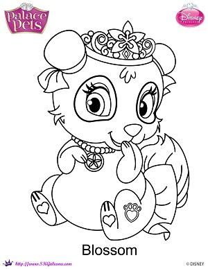 Free Princess Palace Pets Blossom Coloring Page