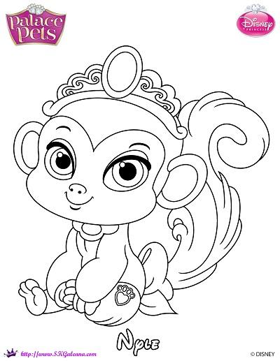 Free princess palace pets coloring page of nyle skgaleana for Princess pets coloring pages