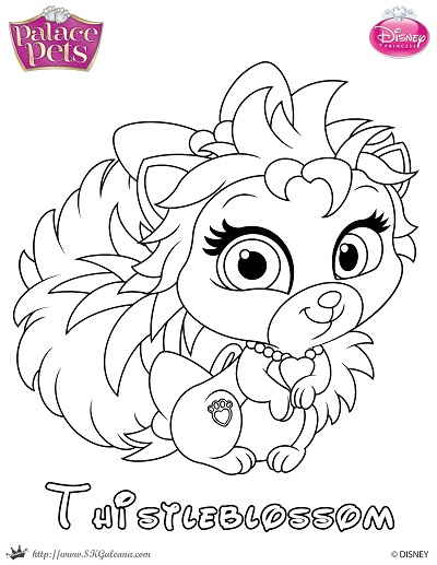 Free palace pets coloring page of thistleblossom skgaleana for Princess pets coloring pages