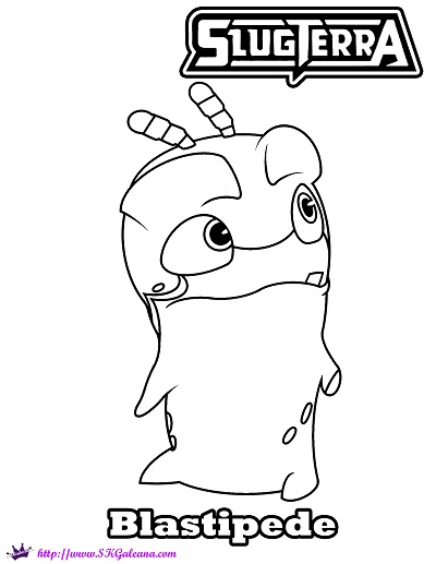 slugterra coloring pages of joules - photo#19