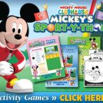 Mickey's Sport-y-thon printable activities