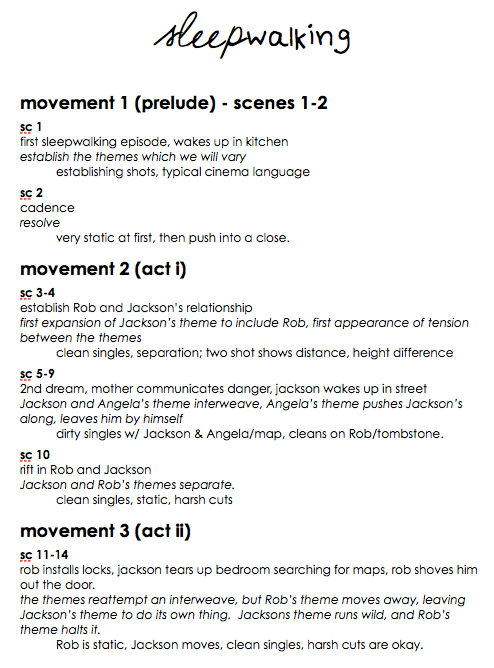 Sleepwalking - movements, p1