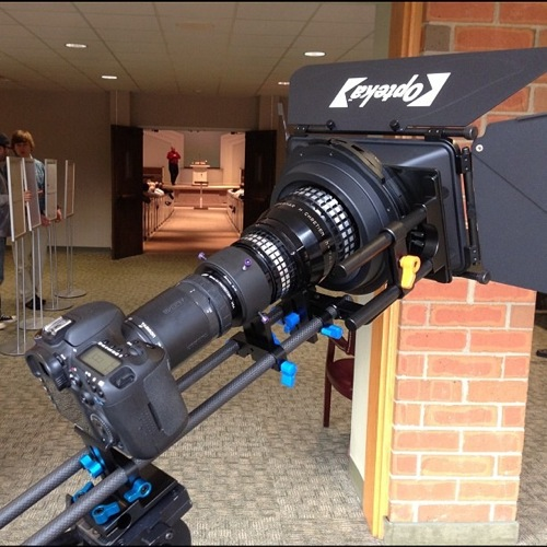 Canon 7D with anamorphic adapter